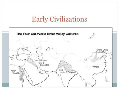 Early Civilizations. I. Civilization Permanent settlements, such as Catal Huyuk, led to emergence of civilization Societies that rely on agriculture,