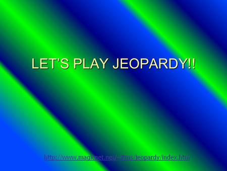 LETS PLAY JEOPARDY!! Dimensional Analysis Matter Scientific Method Measurement Elements, Compounds, and Mixtures Q $100 Q $200 Q $300 Q $400 Q $500 Q.