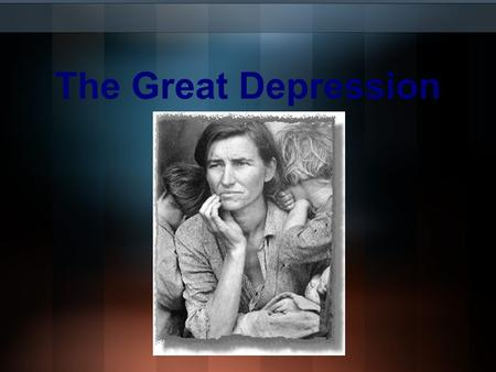 The Great Depression. We in America today are nearer to the final triumph over poverty than ever before in the history of any land. The poorhouse is vanishing.