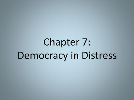Chapter 7: Democracy in Distress. Popular Political Culture partisan – partial to a specific party or purpose even though members of Congress were voting.