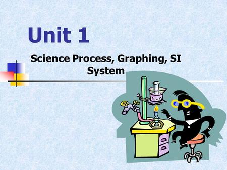 Unit 1 Science Process, Graphing, SI System. Science Pure Science versus Technology Pure science is the study of the natural world Technology is applied.