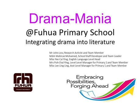 Primary School Integrating drama into literature