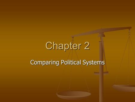 Chapter 2 Comparing Political Systems. How we Study Politics Describe Describe Predict Predict Explain Explain A. Description Conceptual Framework – set.