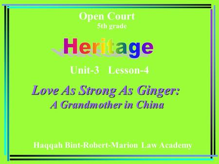 Love As Strong As Ginger: