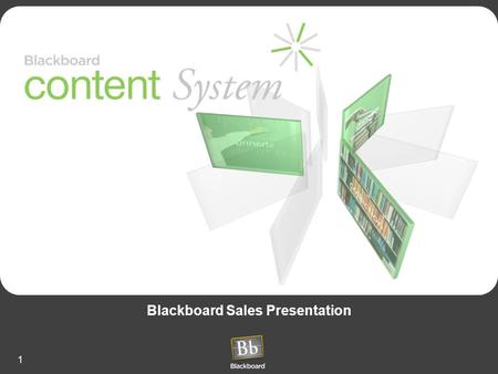 1 Blackboard Sales Presentation. 2 Agenda Introduction –The Company and the Community Why Blackboard –Product Strategy What Blackboard Provides –Product.