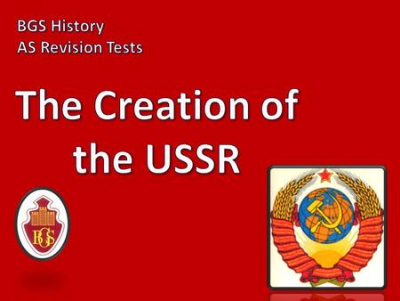 1) What does USSR stand for? THE UNION OF SOVIET SOCIALIST REPUBLICS.