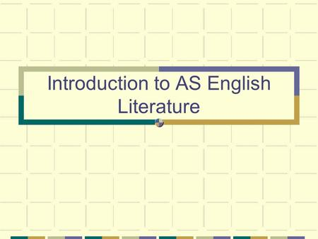 Introduction to AS English Literature. What does this stand for? Think about which literary terms you could use? FILMIPPACTFILMIPPACT.