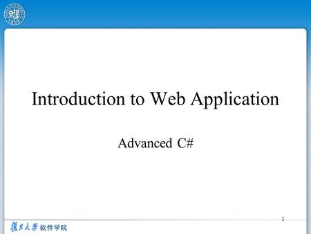 Introduction to Web Application