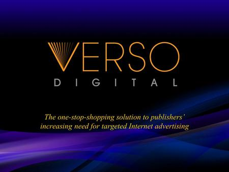 The one-stop-shopping solution to publishers increasing need for targeted Internet advertising.
