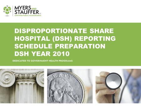 DISPROPORTIONATE SHARE HOSPITAL (DSH) REPORTING SCHEDULE PREPARATION DSH YEAR 2010.