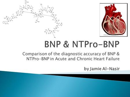 Comparison of the diagnostic accuracy of BNP & NTPro-BNP in Acute and Chronic Heart Failure by Jamie Al-Nasir.