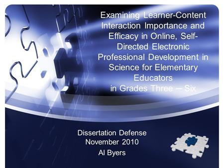 Examining Learner-Content Interaction Importance and Efficacy in Online, <strong>Self</strong>- Directed Electronic Professional Development in Science for Elementary <strong>Educators</strong>.
