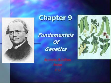Chapter 9 FundamentalsOfGenetics Revised by: R. LeBlanc Biology 1/12.