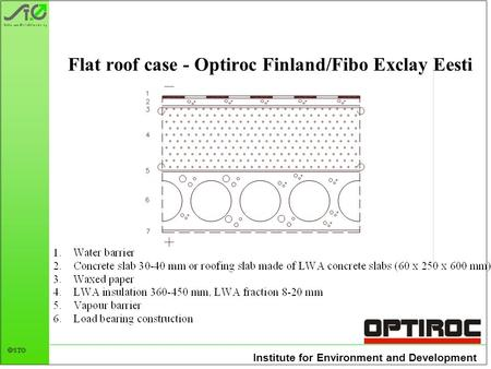 Institute for Environment and Development STØ Flat roof case - Optiroc Finland/Fibo Exclay Eesti.
