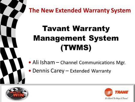The New Extended Warranty System