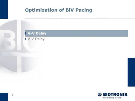 0 Optimization of AV and VV Delays Lumax 540 CRM Training and Education.