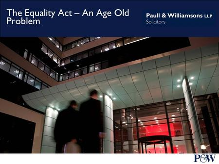 The Equality Act – An Age Old Problem. The Employment Equality (Age) Regulations 2006 first introduced the concept of age discrimination in employment.