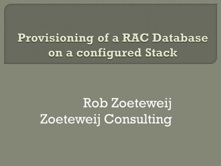 Rob Zoeteweij Zoeteweij Consulting. Is pretty technical Contains quite some slides Shows you: Why and how? Starts right now 24-1-2014Copyright 2009 -