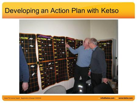 Developing an Action Plan with Ketso. Start with the ideas on the Ketso you used for project planning.