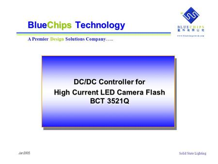 DC/DC Controller for High Current LED Camera Flash BCT 3521Q
