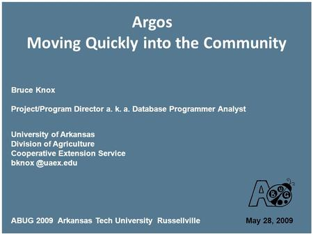 Argos Moving Quickly into the Community