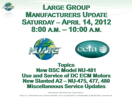 Use and Service of DC ECM Motors Miscellaneous Service Updates
