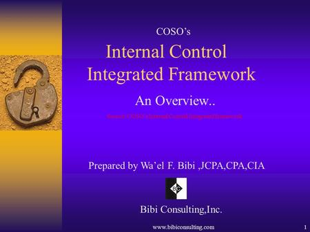 Internal Control Integrated Framework