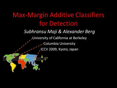 Max-Margin Additive Classifiers for Detection