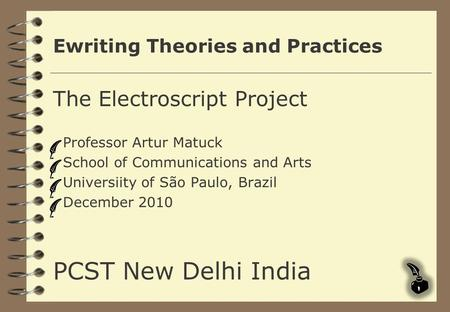 Ewriting Theories and Practices