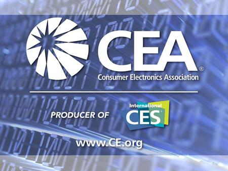 Copyright © 2007 Consumer Electronics Association Tim Herbert Sr. Director, Market Research Consumer Electronics Association Making Sense.