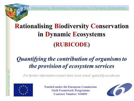 Rationalising Biodiversity Conservation in Dynamic Ecosystems