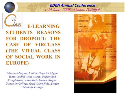 EDEN Annual Conference 1-14 June Lisbon, Portugal