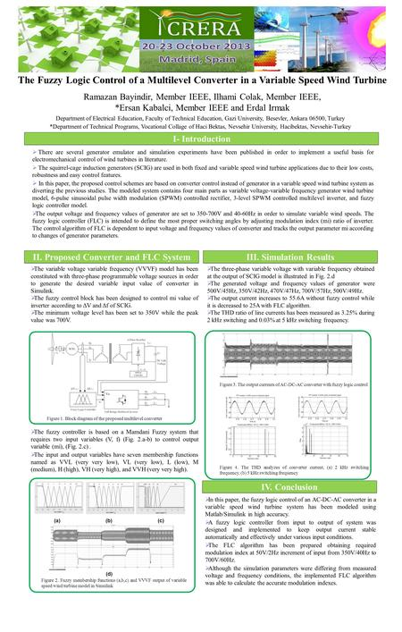 The Fuzzy Logic Control of a Multilevel Converter in a Variable Speed Wind Turbine Ramazan Bayindir, Member IEEE, Ilhami Colak, Member IEEE, *Ersan Kabalci,