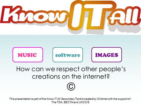 How can we respect other people's creations on the internet? ©