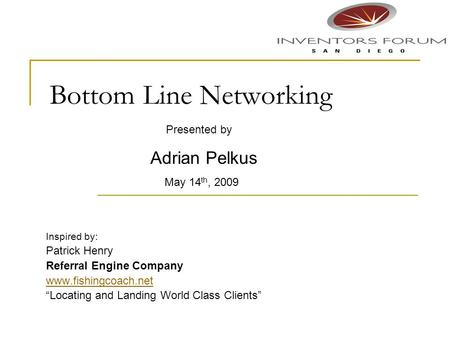 Bottom Line Networking