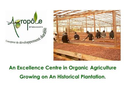 An Excellence Centre in Organic Agriculture Growing on An Historical Plantation.