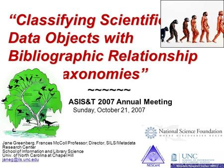 """Classifying Scientific Data Objects with Bibliographic Relationship"