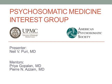 Psychosomatic Medicine Interest Group