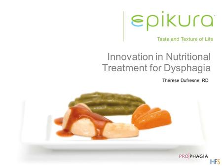 Innovation in Nutritional Treatment for Dysphagia