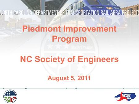 Piedmont Improvement Program NC Society of Engineers