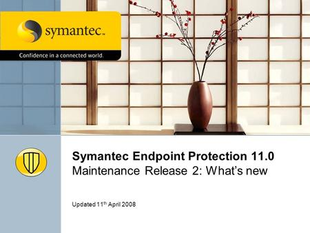Symantec Endpoint Protection 11.0 Maintenance Release 2: Whats new Updated 11 th April 2008.