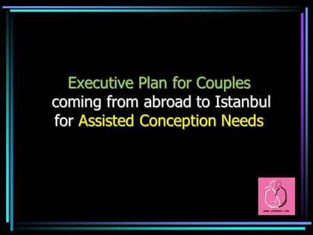 Executive Plan for Couples coming from abroad to Istanbul for Assisted Conception Needs.