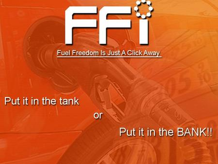 Income Disclaimer Income Disclaimer Fuel Freedom International (FFI) does not guarantee any income claims made by Independent Representatives of FFI.