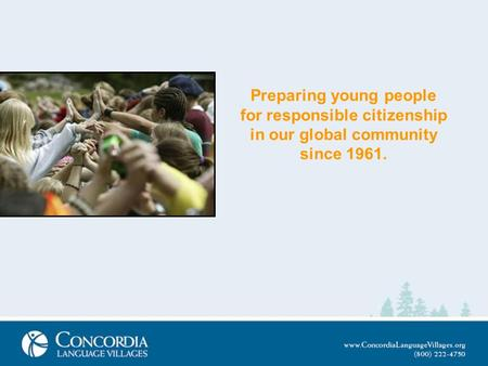 Preparing young people for responsible citizenship in our global community since 1961.