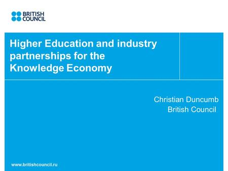 Higher Education and industry partnerships for the Knowledge Economy