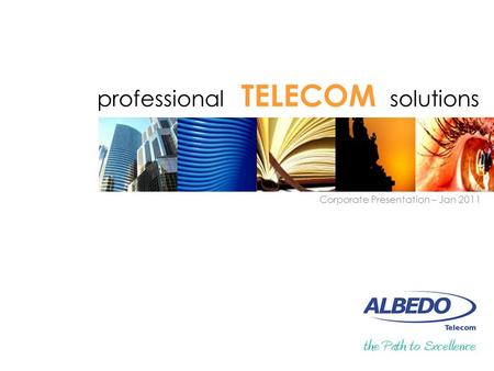 Professional TELECOM solutions Corporate Presentation – Jan 2011.