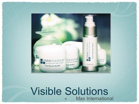 Visible Solutions Max International.