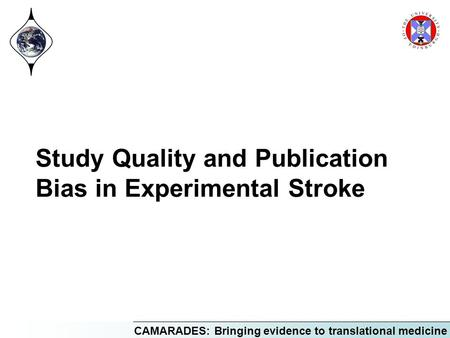 Study Quality and Publication Bias in Experimental Stroke