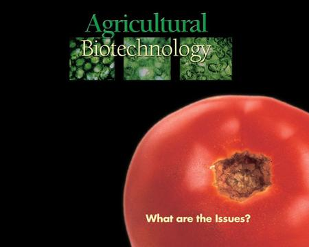 1. 2 What are the issues? Biotechnology vs. traditional breeding methods Food safety Environment Social.