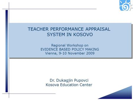 TEACHER PERFORMANCE APPRAISAL SYSTEM IN KOSOVO